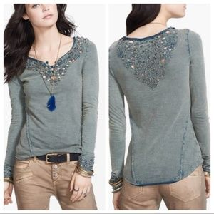 Free People Blue Luna Cutout Henley